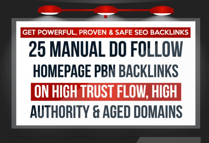 25 pbn manual do follow homepage backlinks