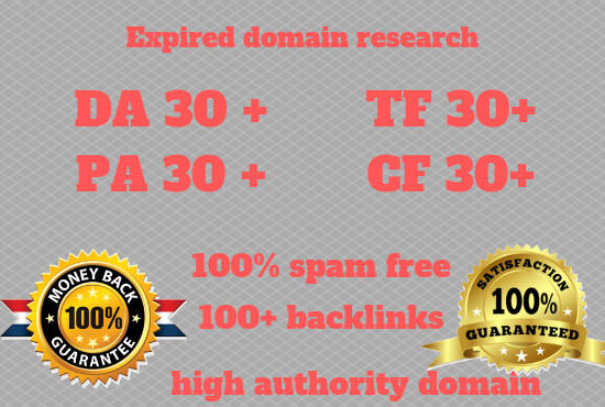 research high metrics expired domain for domain resea...