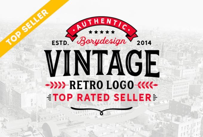 design a retro vintage logo for you