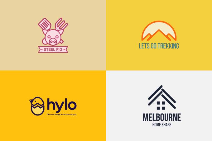 design 2 flat minimalist logo design