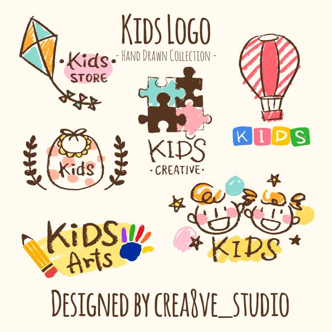create 3 hand drawn logo in 2hrs