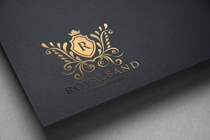 design a heraldic and luxury logo