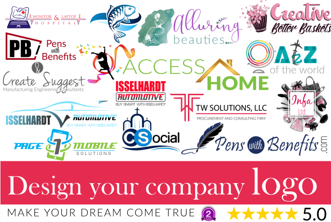 design your company logo or redesign existing trademark