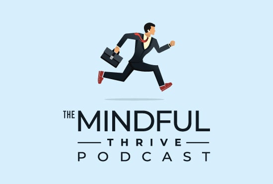 design minimalist podcast logo or cover