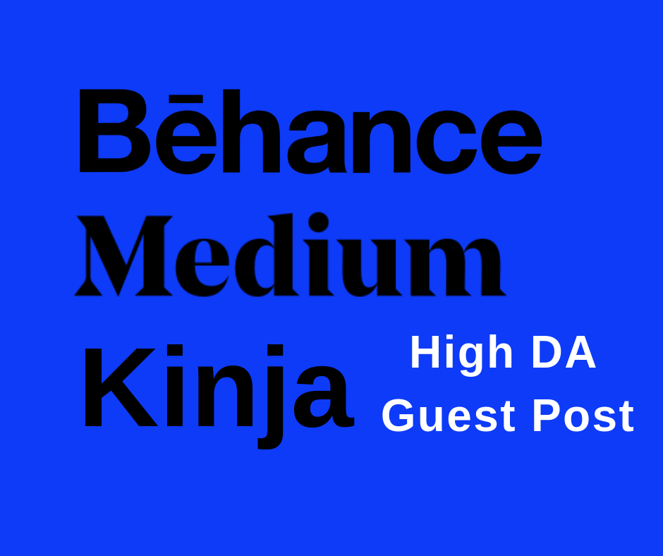 Write And Publish Guest Post On Behance Medium Kinja