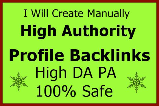 Do 60 high authority profile backlinks