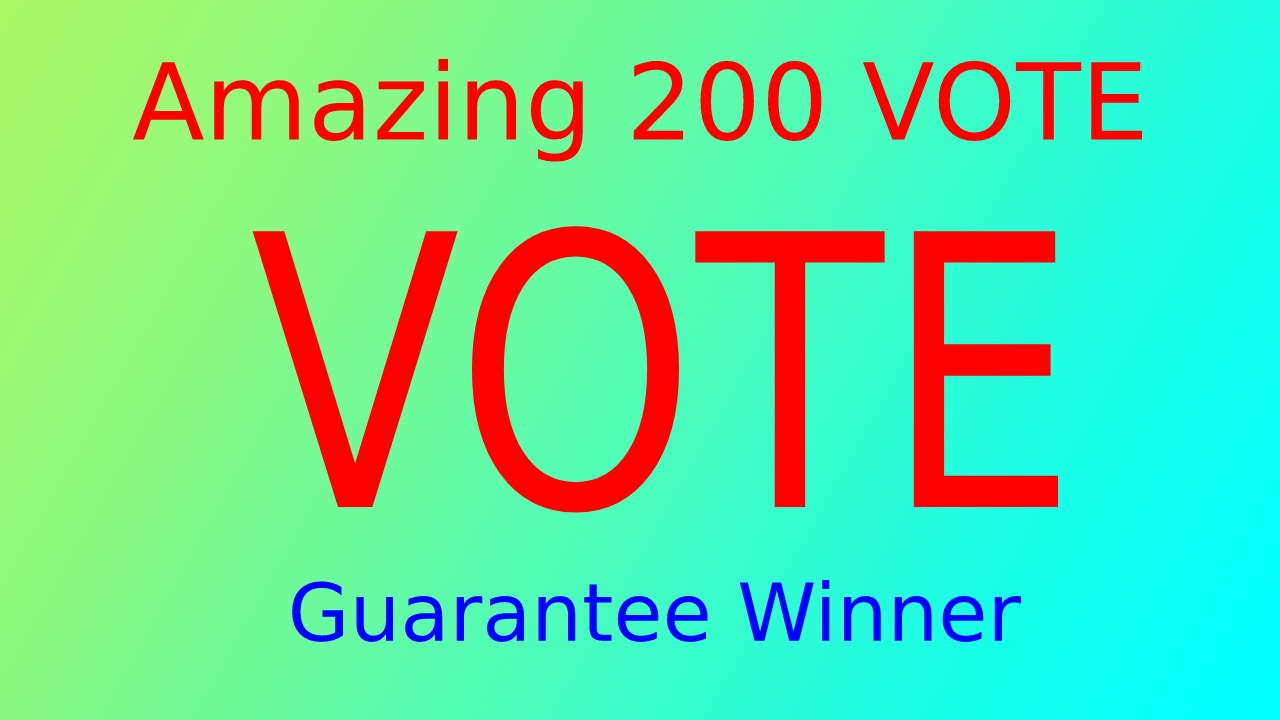 Give 250 Different IP Votes On Your Online Voting Contest Entry Polls