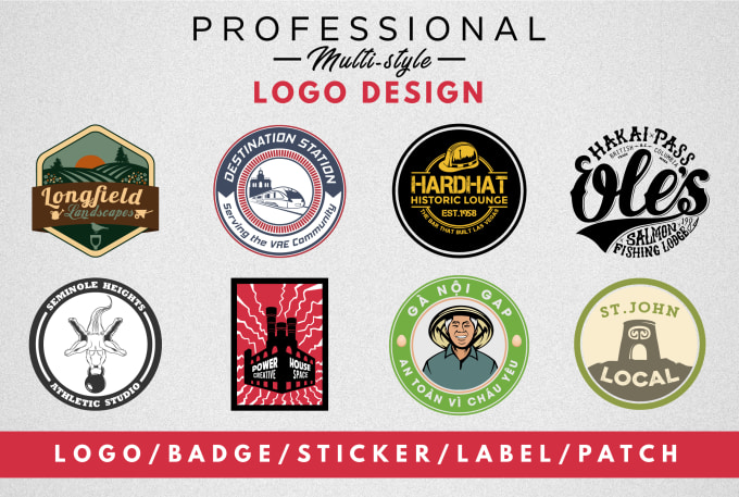 design a circular round logo,  badge,  sticker,  label,  patch