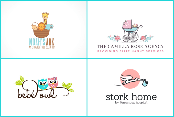 design cute baby logo for your shop and products