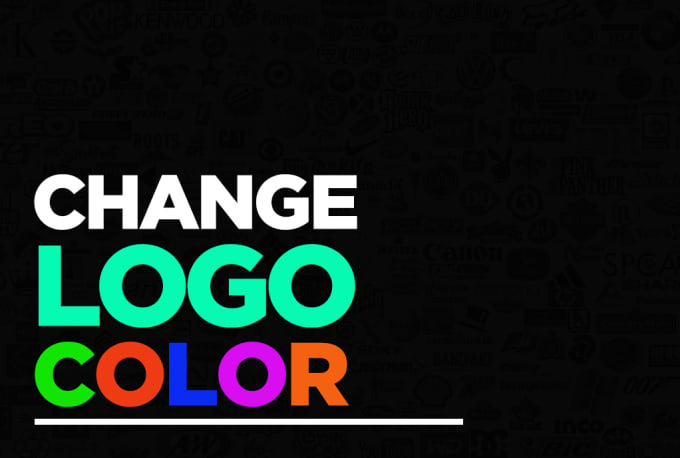 change logo color to black,white or any other color