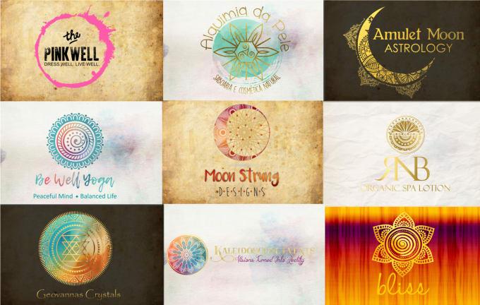 design a mandala or sacred geometry logo