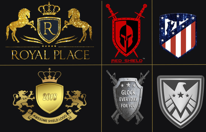 create a shield,  crest and royal logo in 24 hours
