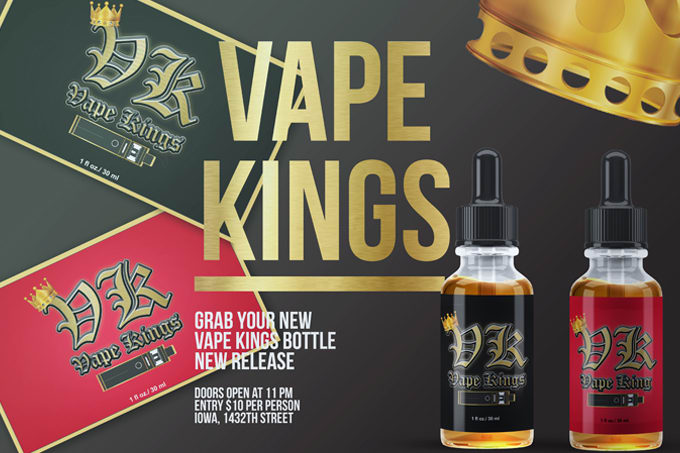 create a vape,e liquid, or e juice label for your brand