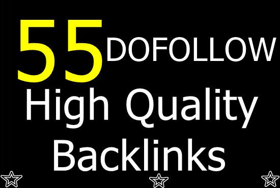 Create 55 Dofollow Backlinks Manually
