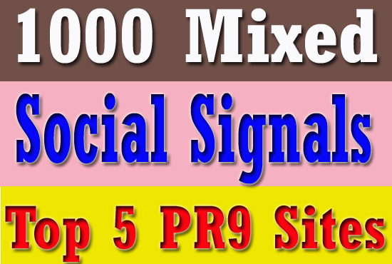 1000 High Quality SEO Social Signals Promotion