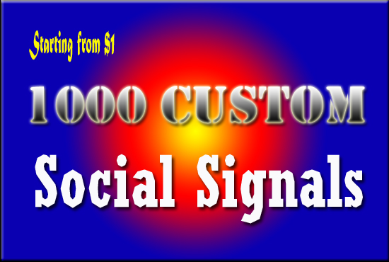 1000 Top Custom Social Signals from PR9 Sites