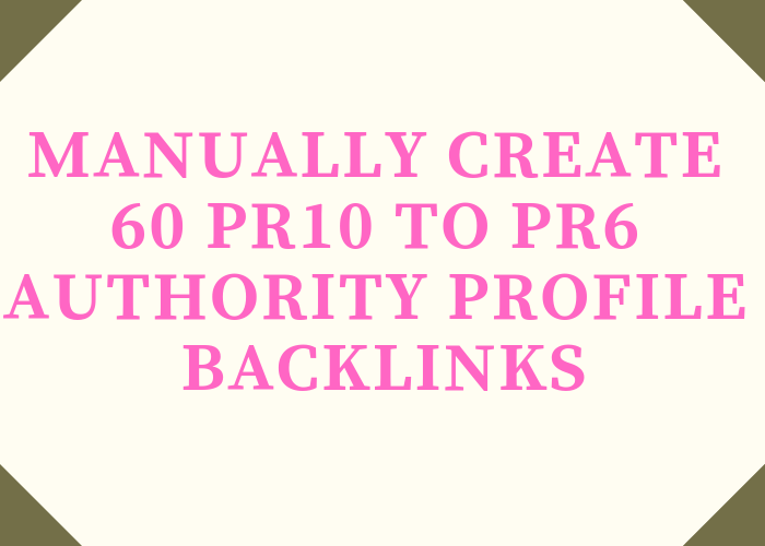 Manually Create 60 Pr10 To Pr6 Authority Profile Backlinks