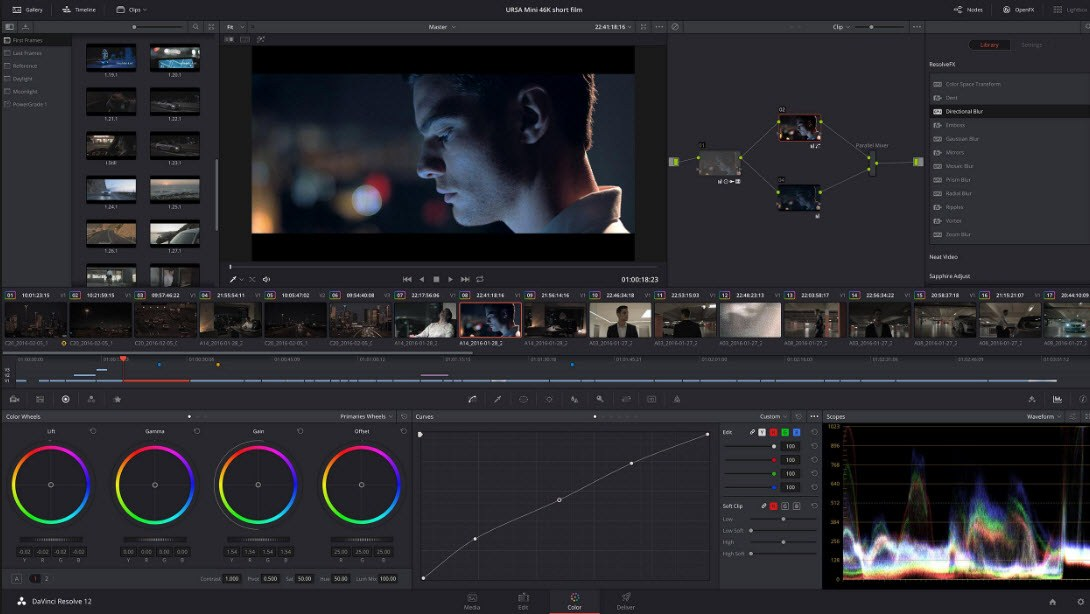 video editing or color grading or vfx