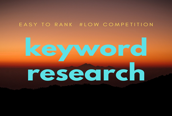 create seo competitor analysis, keyword research