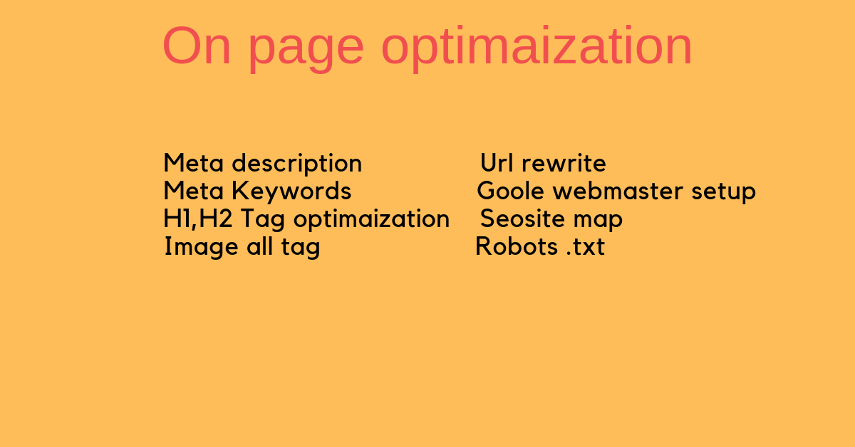 Do Yours On Page Optimization