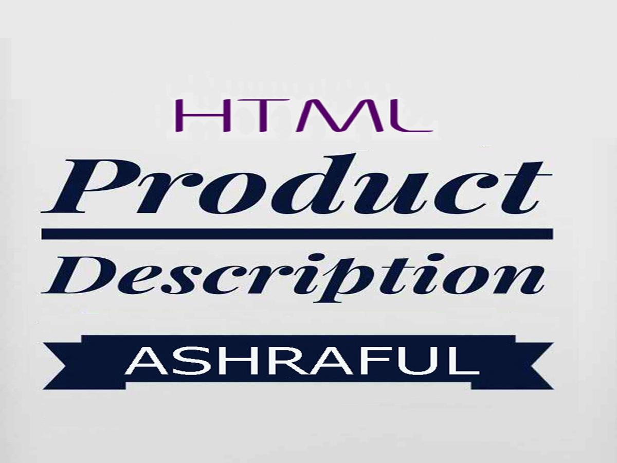 Write A HTML Style Amazon Product Description Listing