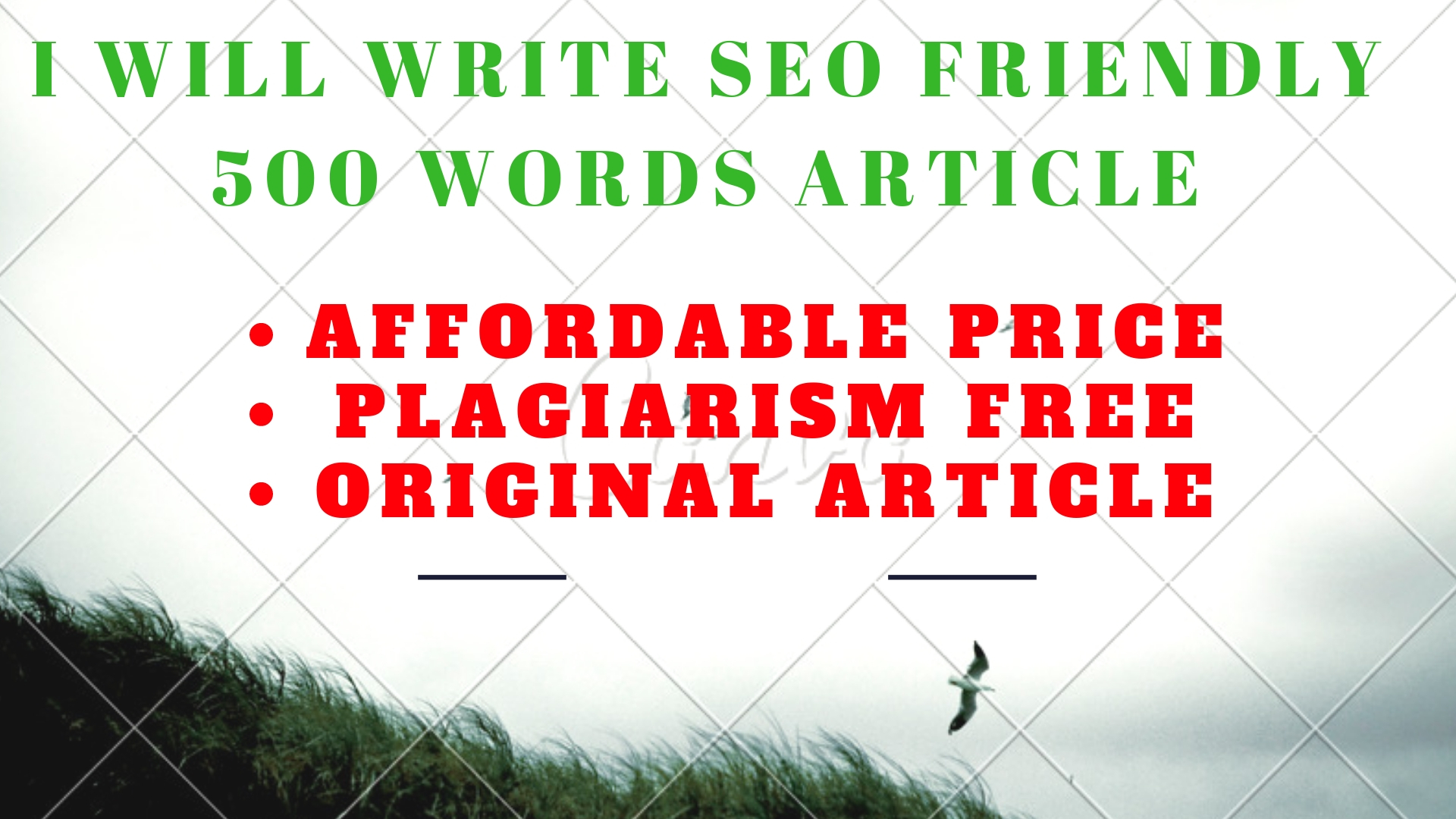 Write SEO Articles,  Blog Posts And Website Content