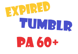 Get 1 Registered Strong Tumblr with PA 60+ and 1000+ Backlinks