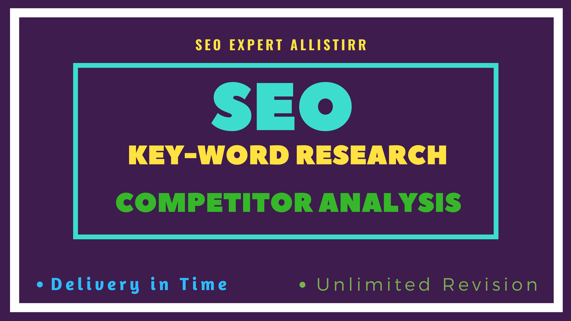On page SEO, Keyword research, Competitor analysis