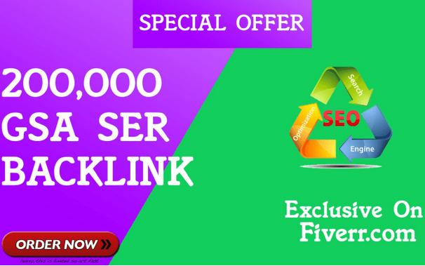 do 200,000 gsa ser,  quality, verified backlinks,  for seo