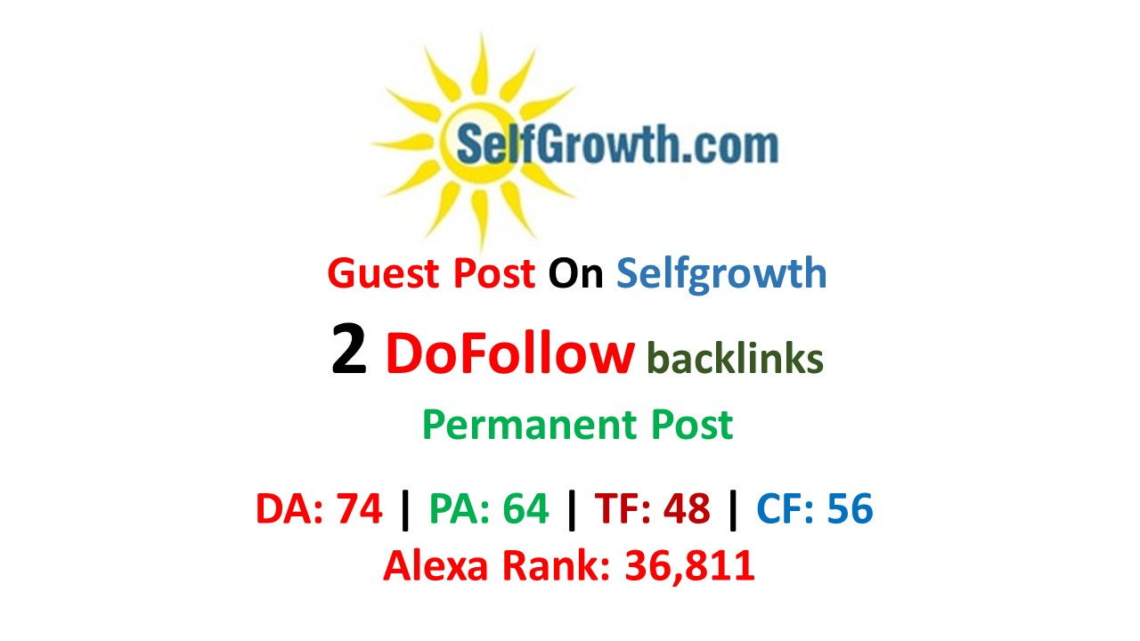 Publish Guest Post On Selfgrowth With Dofollow Links