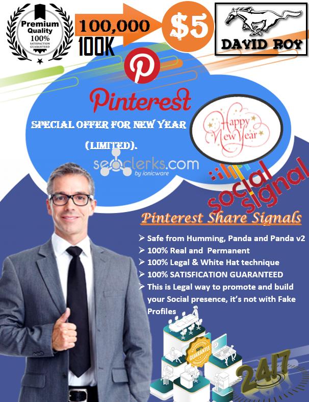 100,000 PR9 Permanent Social Signals Pinterest Share Important For Website Ranking