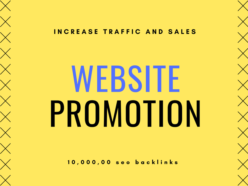 do website promotion to increase traffic and sales