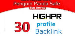 30+ manually social profile backlinks