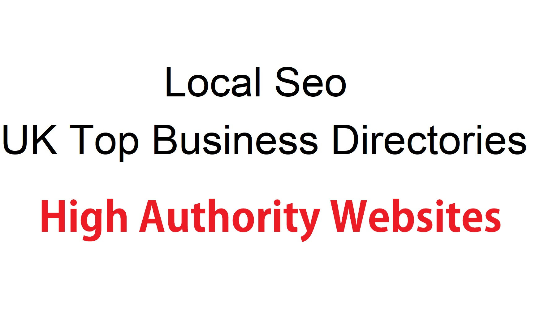 your business or website in top 15 UK directories manually
