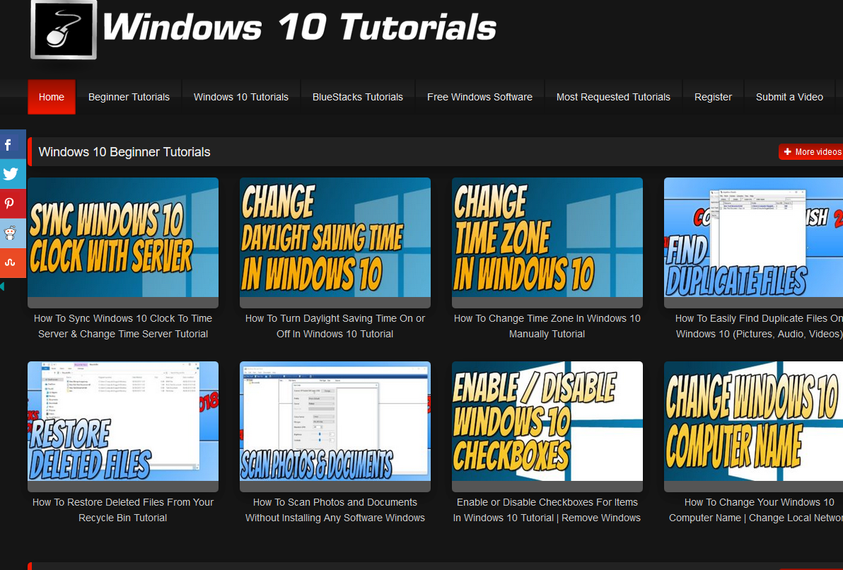 Give Premium Windows 10 Tutorials Video Site + Premium Plugins