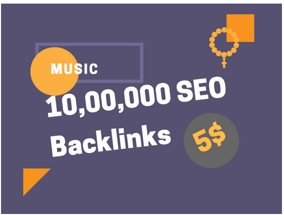 do your music promotion by 1 million seo backlinks