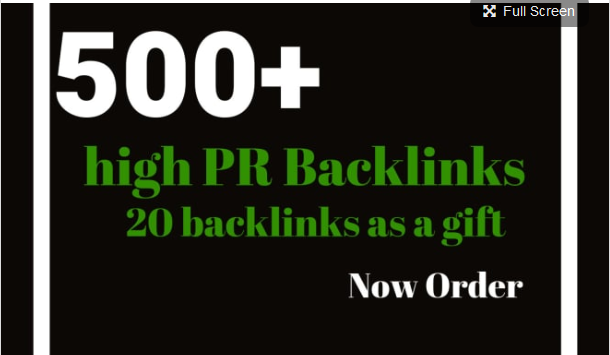 Do your google ranking fast with 500 high PR backlinks