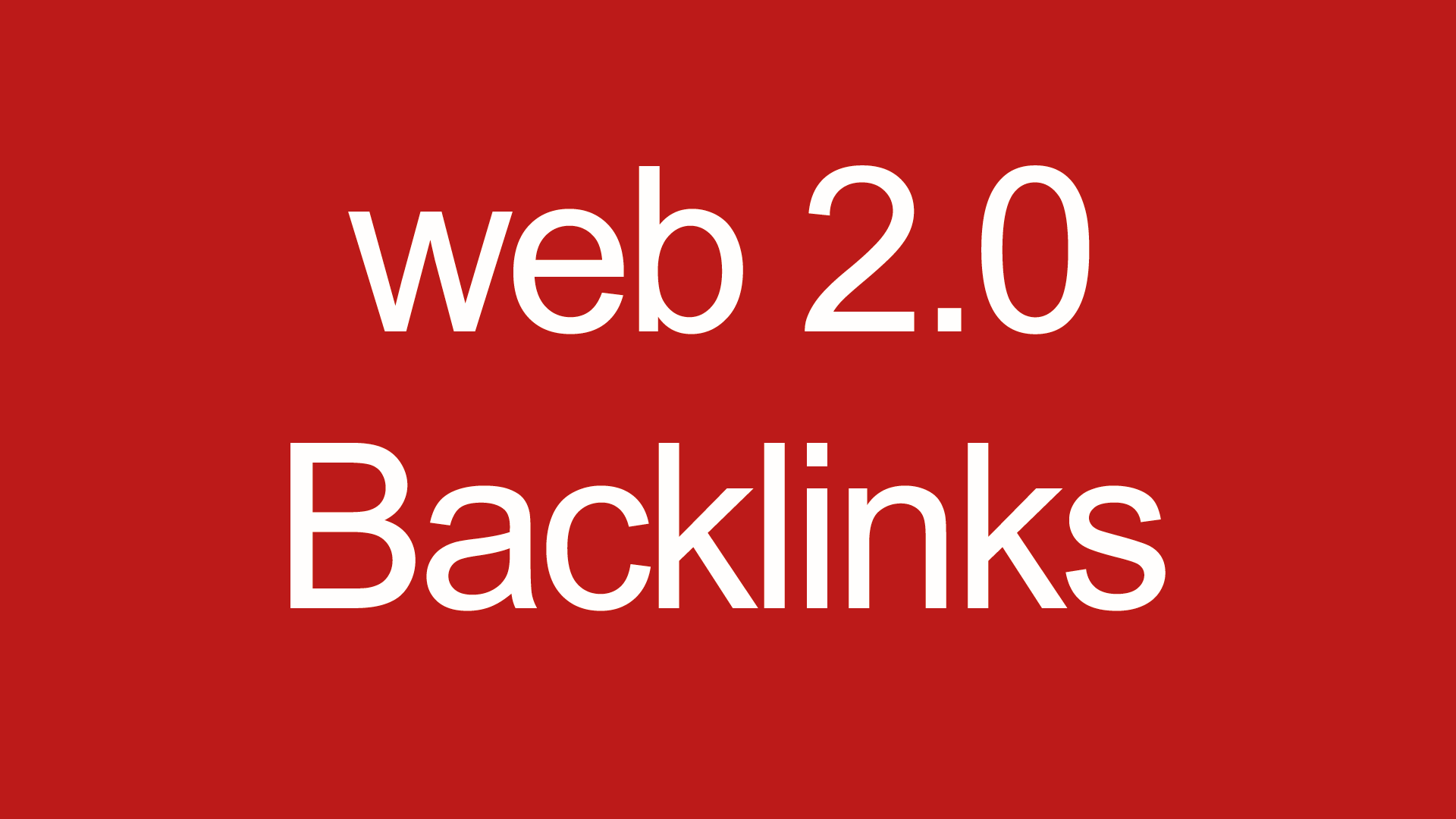 50 Web 2.0 backlinks for your site