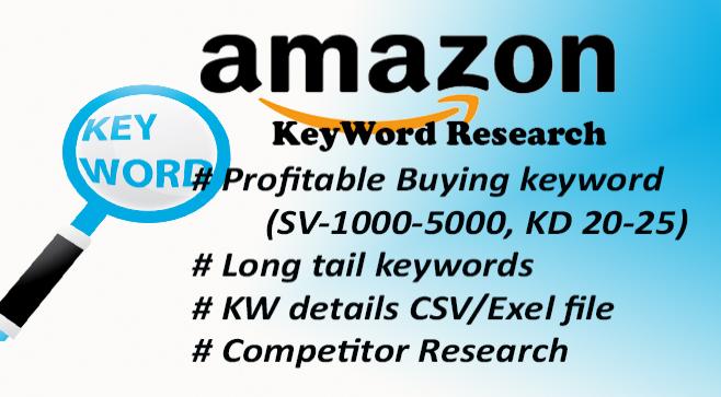 do profitable amazon keyword research