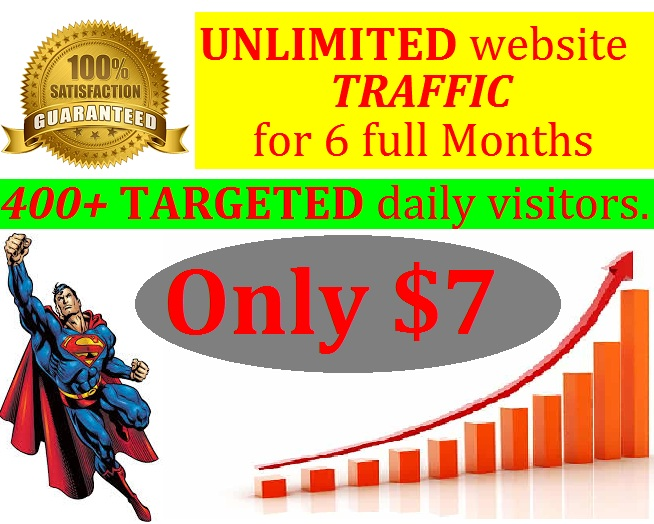 send TARGETED real human website traffic for 6 months