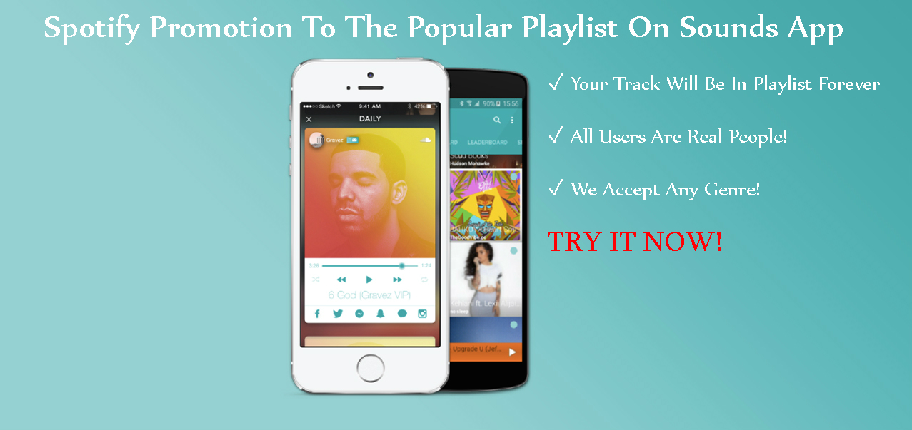 Add Your Track To The Popular Playlist On App And Send A Message To 2,000 Real Users