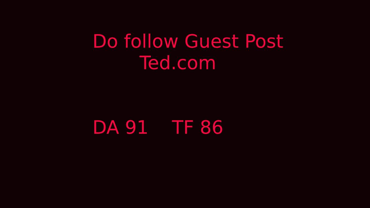 write and publish guest post ted DA 91