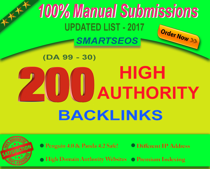 rank higher in google with 200 high domain authority seo backlinks