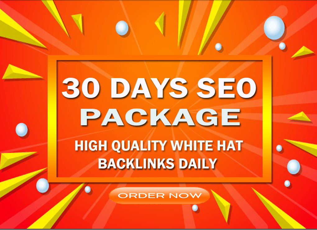 create whitehat backlinks daily with our 30 days SEO package