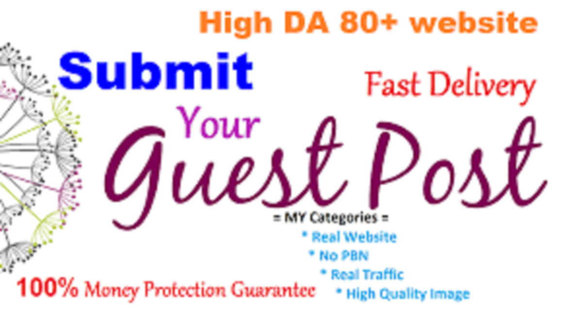 Publish Guest Post High Domain Authority Site With Dofollow Links for $10