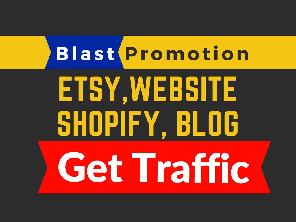 do promotion for website, blog, ebay, etsy, shopify