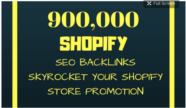 promote your shopify store with 900,000 SEO backlinks