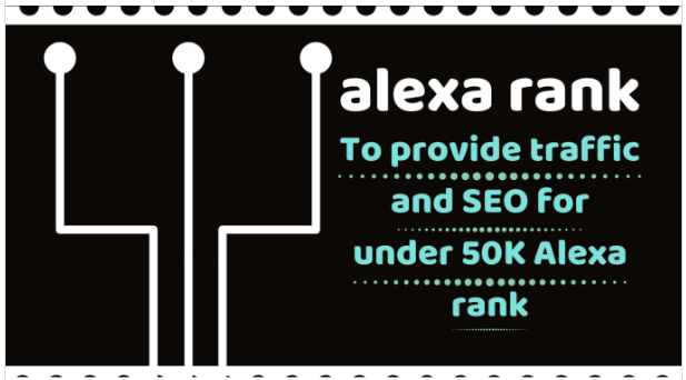 Provide 50k safely traffic and SEO to improve alexa rank