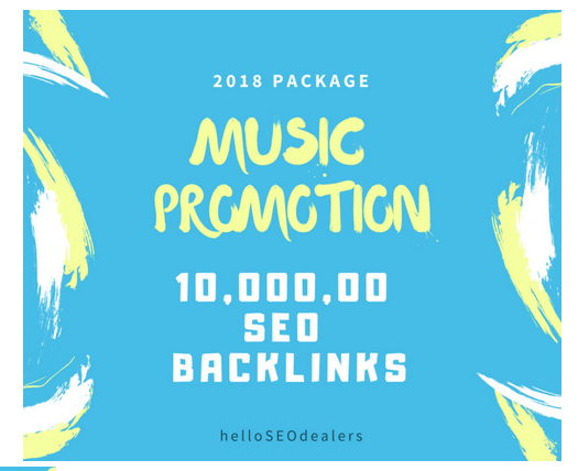 do 10,000,00 SEO backlinks for your music seo, promotion