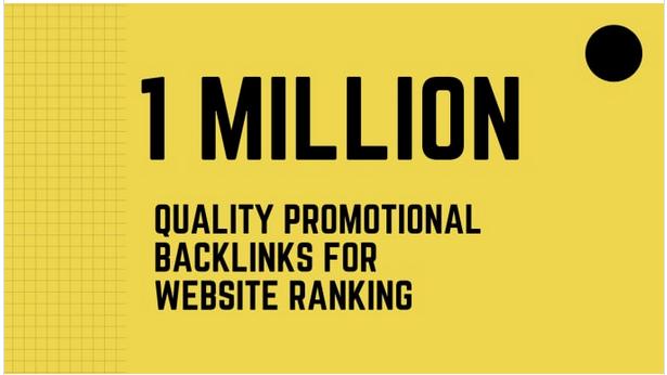 Do best viral website promotion with 1 million SEO backlinks